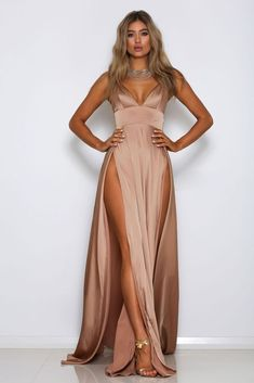af3766859ca71b NIKKI PRE ORDER Maxi Dress With Slit
