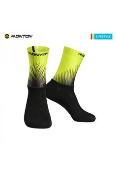 e505758a1464 fluro yellow cycling socks Cycling Clothing