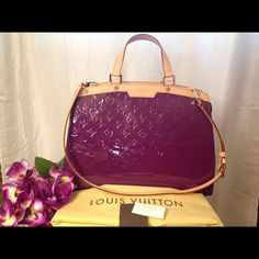 🌷💯Authentic Louis Vuitton GM Vernis Brea🌷 🌷For your consideration: the gorgeous, 100% authentic Louis Vuitton GM Amethyst Vernis Brea in BRAND NEW condition! This beauty was purchased straight from the Louis Vuitton store and has NEVER been used or carried! Comes with LV booklet, tags, dustbag, LV box and COPY of store purchase receipt🌷 W-14.6 x H-11.8 x D-3.9 inches 💰Price is NOT firm & I'm more than happy to negotiate! My email is at the top of my page, in my closet. Feel free to…