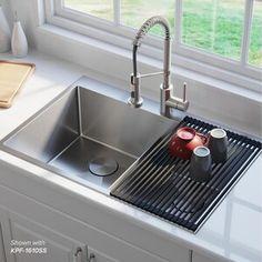 Drop In Kitchen Sink, Modern Kitchen Sinks, Kitchen Island With Sink, Kitchen Sink Design, Kitchen Sink Organization, Sink Organizer, Undermount Kitchen Sink, Island Sinks, Drop In Sink