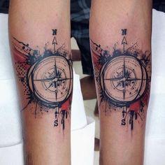 trashpolka and compass Trash Polka, Compass Tattoo, Tattoo Artists, Tatting, Ink, Photo And Video, Artist Art, Drawings, Instagram