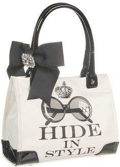 My Flat In London - Winston Small Tote (Black/Natural) - Bags and Luggage for Sale