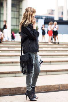 { Fringes } The Sartorialist, Fashion Moda, Look Fashion, Street Fashion, Mode Gossip Girl, Vetement Fashion, Vogue, Mein Style, Inspiration Mode