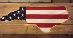 State Wall Art Made From A Flag And Pallets   ---  #pallets