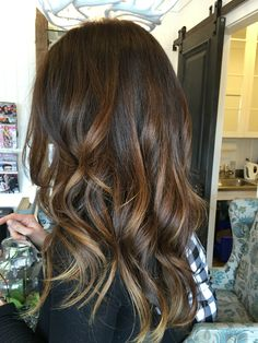 Warm brown balayage @millerandmanesalon
