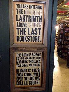The Last Bookstore in Los Angeles has so many fun mazes and crazy awesome book displays!