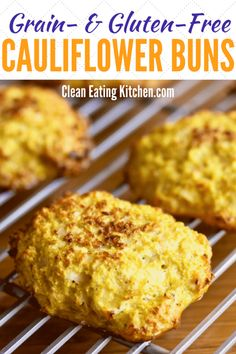 This Turmeric Cauliflower Buns recipe has a total of four ingredients and is completely grain-free, low-carb, and super healthy. Perfect for keto or paleo diets. via Clean Eating Kitchen Gluten Free Recipes, Low Carb Recipes, Whole Food Recipes, Vegetarian Recipes, Healthy Recipes, Recipes Dinner, Healthy Meals, Holiday Recipes, Turmeric Cauliflower