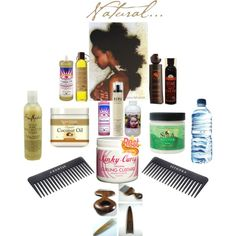 """""""Hair products I love"""" by browngirlbento on Polyvore"""