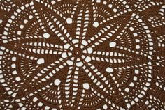 Handmade crochet doily Size: 16.1 inches - (41 cm) Material: 100% cotton Color: brown (color Nr 5)