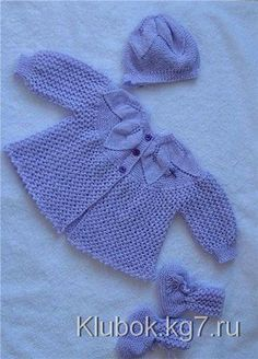 Knitting for Kids Knit Baby Sweaters, Knitted Baby Clothes, Girls Sweaters, Baby Knits, Baby Cardigan Knitting Pattern Free, Baby Knitting Patterns, Baby Patterns, Crochet Girls, Crochet For Kids