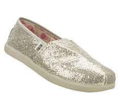 Women's Skechers BOBS WORLD1 - Silver