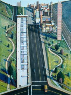 Wayne Thiebaud Down Eighteenth Street.jpg (720×963)