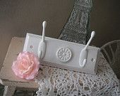 Wall hooks wall hangers coat hooks shabby chic french country rustic cottage distressed