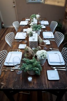 """worn wood table + bertoia chairs = what i need to complete my dining """"room"""""""
