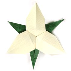 How to make an origami trillium flower (http://www.origami-flower.org/flower-origami-trillium.php)
