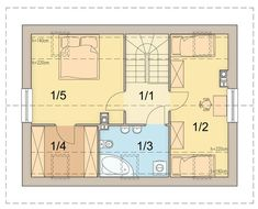 DOM.PL™ - Projekt domu ARN CYNAMON CE - DOM RS1-29 - gotowy koszt budowy Traditional House, Floor Plans, How To Plan, Country, House Styles, Projects, Diana, Houses, Log Projects