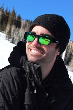 Neera Midnite Oil (Green Mirror) fitover sunglasses by Jonathan Paul® are perfect for adventures in the snow. With 100% UVA/UVB protection, durable polycarbonate lenses and TR-90 Crystal Nylon™ frames, and 35 mirror lens styles, they're the best sunglass for your winter adventures!