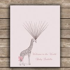 Baby Shower / Children's Birthday Guestbook Alternative Circus Giraffe holding Thumbprint / Fingerprint Balloons Poster / Guest Sign by SpecialPrints on Etsy https://www.etsy.com/listing/184315057/baby-shower-childrens-birthday-guestbook