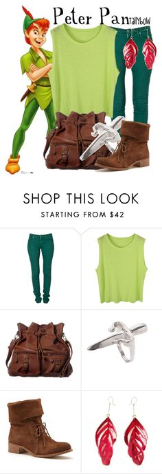 """""""Peter Pan"""" by tallybow ❤ liked on Polyvore featuring Disney, Second, ANS, LeiVanKash, Matisse and Aurélie Bidermann"""