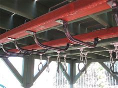 Under the Big Deck is another world of fun with parallel rings and monkey bars.