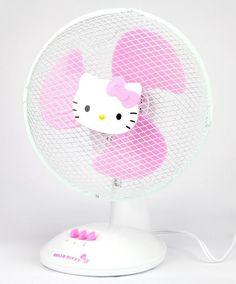 Hello Kitty fan to keep it cool