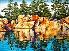 Landscape Paintings and photographs : Margarethe Vanderpas Fine Artist Killarney Ontario Watercolor Landscape, Abstract Landscape, Landscape Paintings, Watercolor Paintings, Landscapes, Watercolour, Canadian Painters, Canadian Artists, Landscape Quilts