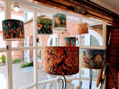 Dawn Maciocia is an artist from Fife, Scotland.  Working with acrylics, inks and torn paper collage she creates the most wonderful designs all inspired by animals.  Dawn's work always adds a splash of colour to the windows of our gallery.  Designs are also as greetings cards, cushions, lampshades, placemats and coasters.  #DawnMaciocia #FarthingGallery #Kenilworth #Lampshades #Fife Fife Scotland, Torn Paper, Lampshades, Acrylics, Color Splash, Valance Curtains, Dawn, Coasters, Greeting Cards