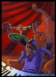 AND ALL THAT JAZZ    JAZZ PAINTINGS BY JUSTIN BUA