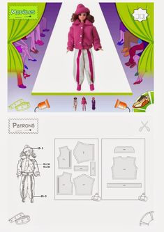 Multiple language PC Rom featuring easy to follow instructions to make 54 outfits, most of which are mix and match , for 11.5 inch dolls, s...