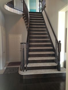 Beautiful Stair Case Installed By Floors In Motion. Our Customer Originally  Called Us For A
