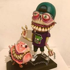 New mutant kid and his monster dog, now on my etsy shop! Link in bio!!! #br1monsters #weirdo