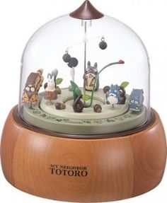 Ghibli - Totoro - Mechanism Table Clock - Music Box - Totoro -- Oh my good gracious I want this.