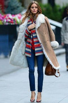 As the queen of effortlessly polished style, Olivia Palermo is your guide for how to wear shearling with luxe layers.