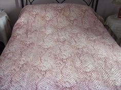 French Boutis,Antique Quilt,Vintage quilt, Throw. Hand stitched, Double Sided. Tradional Provence Quilt. Large. by JacquelineMcEwan on Etsy