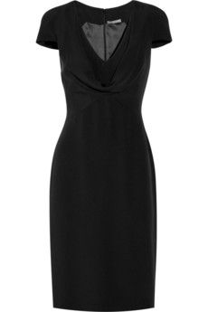 Alexander McQueen, silk-crepe - perfect dress to go from work to a night out by simply changing up your jewelry and accessories