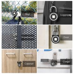 Fingerprint Keyless Lock App Button / Fingerprint / Password For Android IOS UK Keyless Locks, Luggage Case, Lost Keys, Unique Gadgets, Smart Key, Protecting Your Home, Aluminium Alloy, Locker Storage