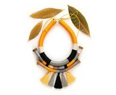 Nappa Boho tribale collana collana di corda di KiaFilStudios