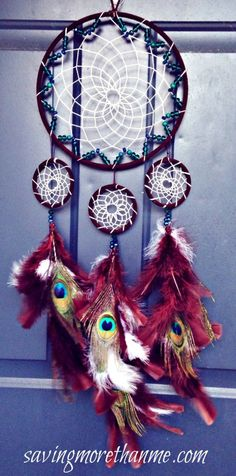 How to Make a Dream-catcher Tutorial & Beautiful DIY Dream-catcher Inspiration Pack for Beginners homesthetics decor (8)