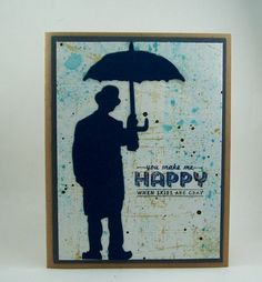 Umbrella Man Makes Me Happy by mamaxsix - Cards and Paper Crafts at Splitcoaststampers