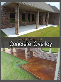 What Can You Do to Improve a Patio's Appearance? Start Over Using DCI Concrete Overlay and Acid Stain! Find out more about the product, step-by-step and the final outcome. Time to start enjoying your patio again! Outdoor Tile Over Concrete, Stained Concrete Porch, Concrete Overlay, Concrete Steps, Outdoor Tiles, Concrete Floors, Plywood Floors, Poured Concrete, Concrete Lamp