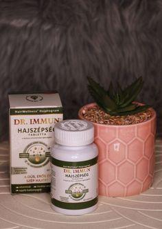 A DR. IMMUN® Hajszépség tabletta a hajhagymák számára széles körű táplálást biztosít a benne található 15 féle hatóanyag által. Vitaminokat, ásványi anyagokat – a haj egészségéhez nélkülözhetetlen – hatóanyagokat tartalmazó komplex összetételű étrend-kiegészítő. Összetételét illetően fontos kiemelni, hogy kutatások bizonyítják: a biotin, cink és szelén a haj normál állapotának fenntartásához, a réz pedig a haj normál pigmentációjához járul hozzá. Valamint a niacin, biotin, cink és… Planter Pots, Blog, Blogging
