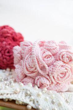 Rosebud Wristlet by Heartenhandknits on Etsy