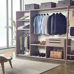 Learn how to build a Capsule Wardrobe for men, create a Minimal Wardrobe for men. Step by step guide to building a wardrobe for life for men. Men Closet, Wardrobe Closet, Capsule Wardrobe, Mens Wardrobe Essentials, Room Essentials, Master Closet, Wardrobe Ideas, Studio Apartment Storage, Diy Home Decor