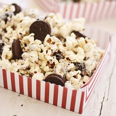 All you need are three ingredients and five minutes to make delicious Cookies and Cream Popcorn.
