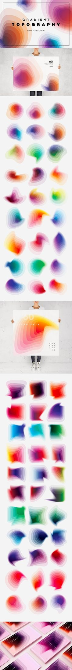 gradient typography - graphic design collection