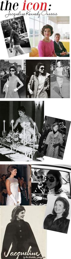 Jackie Kennedy Onassis - so stylish and classy!