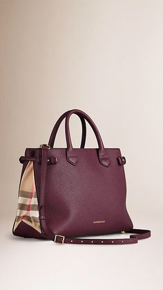 b3308163b76c  Burberry Banner In  Leather And House Check (  Women s  Bags)  lt