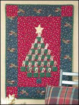 Count down the days with this Quilted Advent Calendar.  Find the pattern at free-quilting.com.