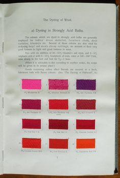 Garment Dyeing (1912) by Farbenfabriken vorm. Friedr. Bayer & Co. #dyesamples #wool