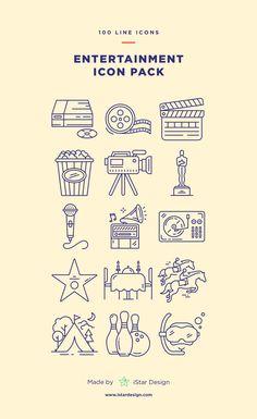 Entertainment Icons Set made by iStar Design. Series of 100 pixel-perfect icons : Entertainment Icons Set made by iStar Design. Series of 100 pixel-perfect icons Flat Icons, Icon Pack, Line Icon, Amusement Park, Social Platform, Icon Set, Icon Icon, Boyfriend Gifts, New Tattoos